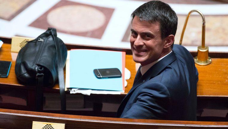 Een tevreden premier Manuel Valls (PS)