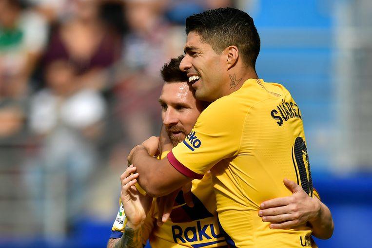 Suárez en Messi trefzeker in Eibar.