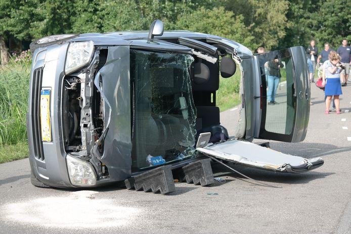 Maandag gebeurde een ongeval op de Tussenlanen in Bergambacht.