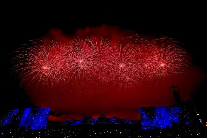 De vuurwerkshow van Caffero Event Fireworks uit Berlicum op zaterdag 11 mei in China.
