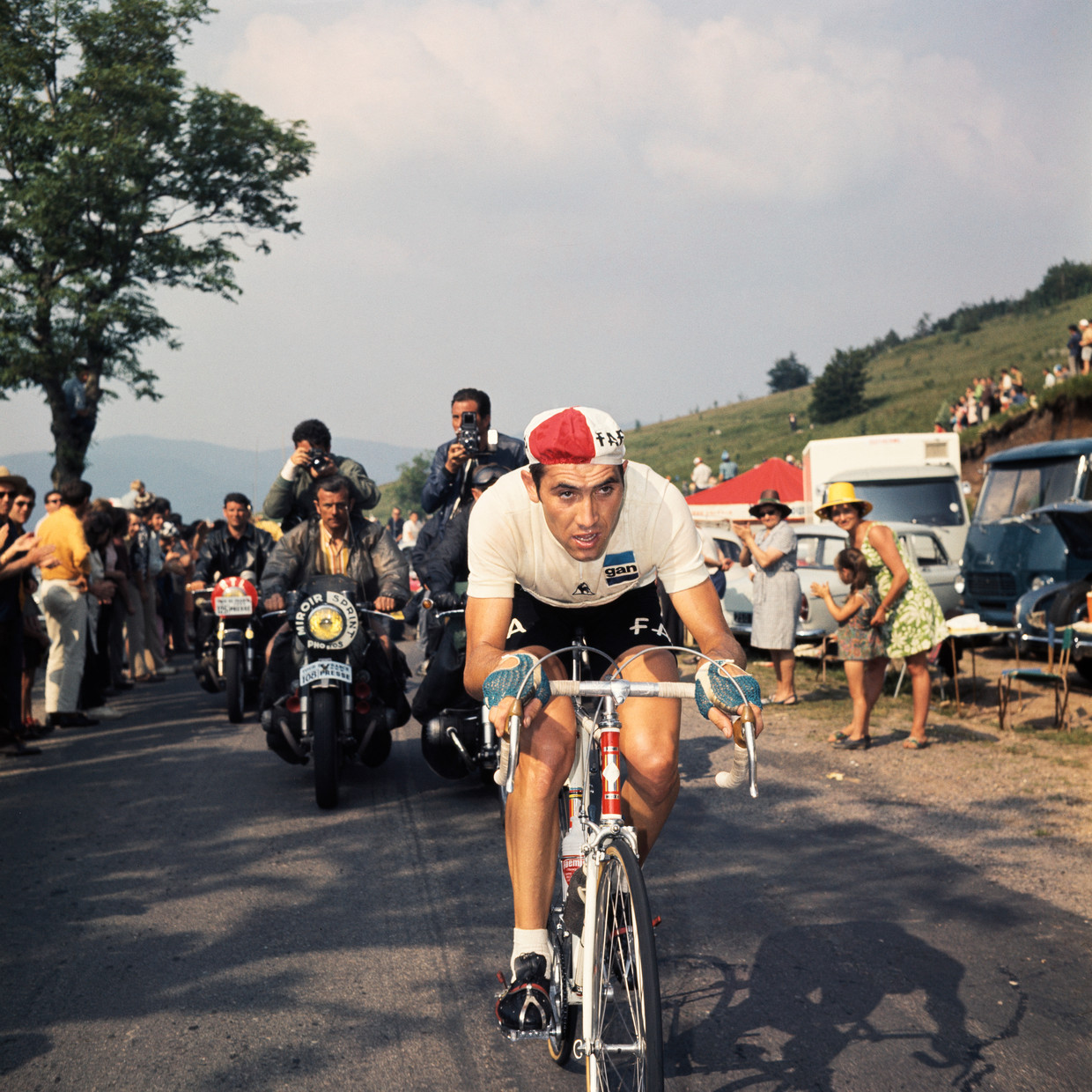 Eddy Merckx in de Tour de France van 1969.