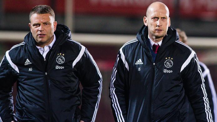 Andries Ulderink (L) e Jaap Stam.