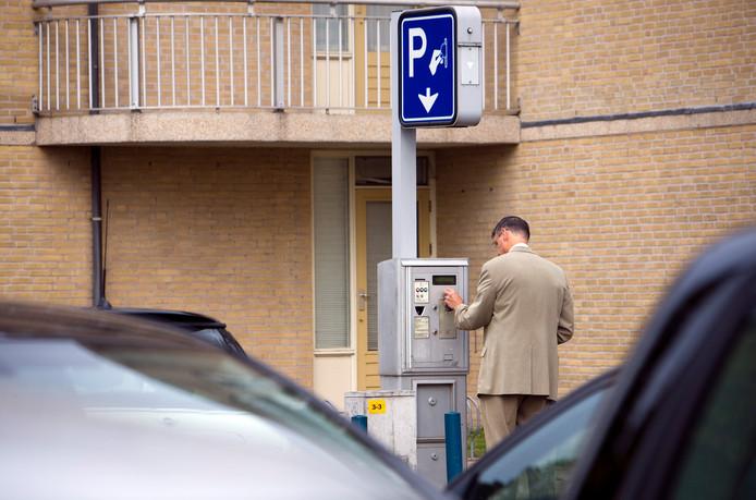 Archiefbeeld ter illustratie: Een van de parkeerautomaten in Zoetermeer.