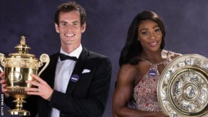 Murray en Serena Williams vormen duo op Wimbledon