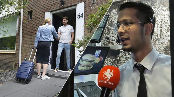 Verslaggever Joost Dijkgraaf zette zijn eigen huis op Airbnb (links) en bezocht midden in de nacht de McDonalds