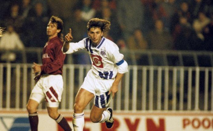 Luc Nilis als speler van Anderlecht.