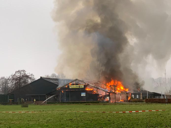 Brand bij activiteitenboerderij 't Dommeltje in Boxtel.