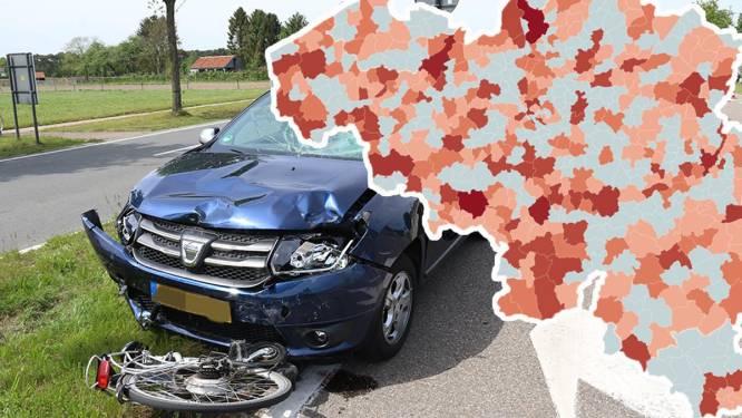IN KAART: zoveel verkeersslachtoffers vielen er in uw gemeente