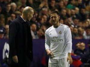 """Zidane évoque la blessure d'Eden Hazard: """"Il est malheureux, c'est dur pour lui"""""""