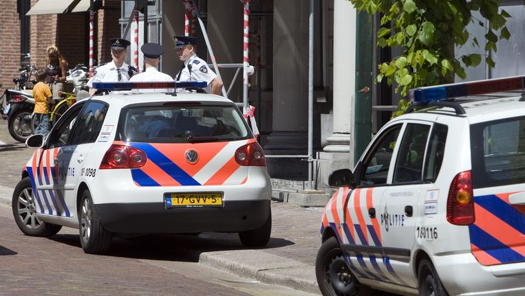 Politieauto's in Dordrecht. Beeld ANP