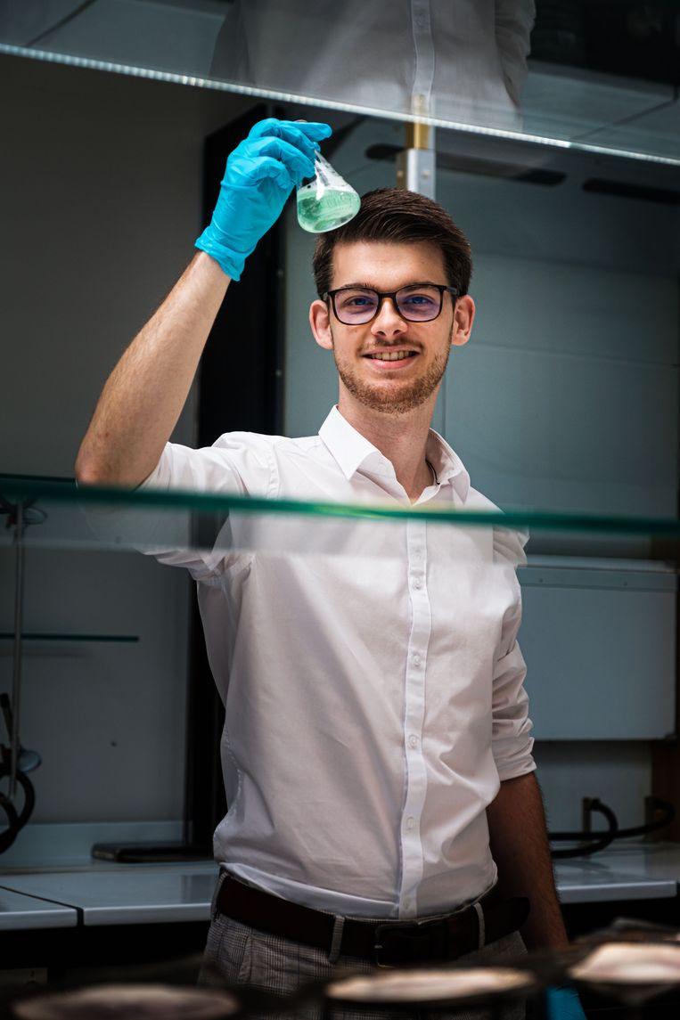 Martijn Peters in zijn labo aan de UHasselt in Diepenbeek.