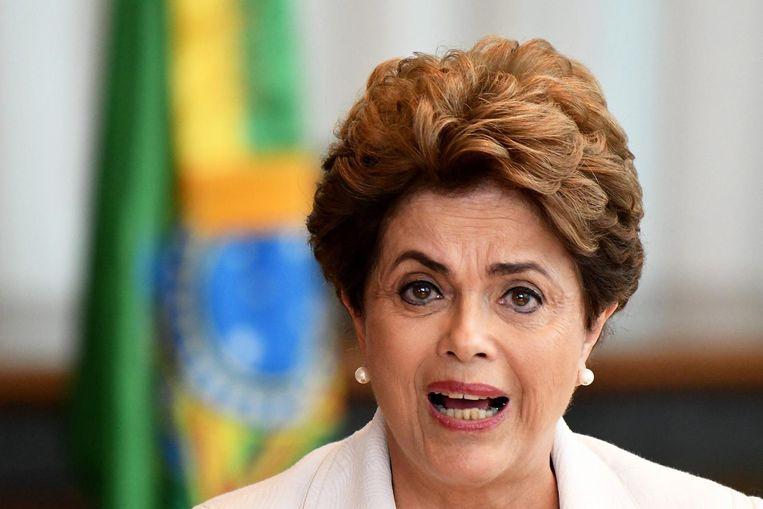 De afgezette Braziliaanse president Dilma Roussef. Beeld epa
