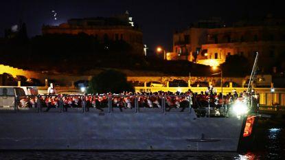 Ngo-schip Ocean Viking aangekomen in Malta met 356 migranten