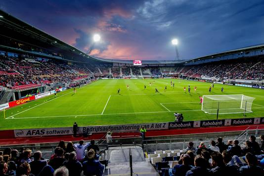 Het stadion in volle glorie.