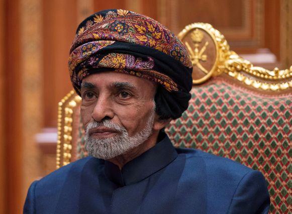 Sultan van Oman Qaboos bin Said al-Said in januari vorig jaar.