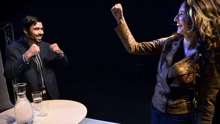 Ron Meyer en Sharon Gesthuizen. Beeld Marcel van den Bergh / de Volkskrant