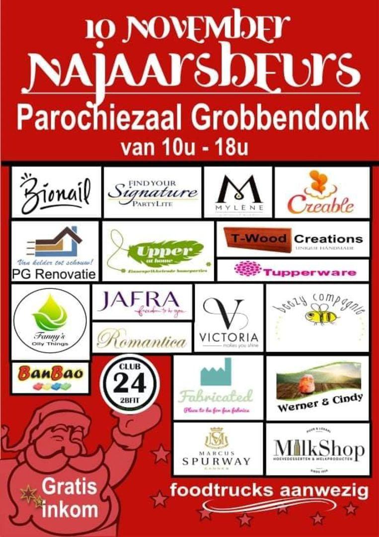 De affiche van de Handelsbeurs komende zondag in Grobbendonk