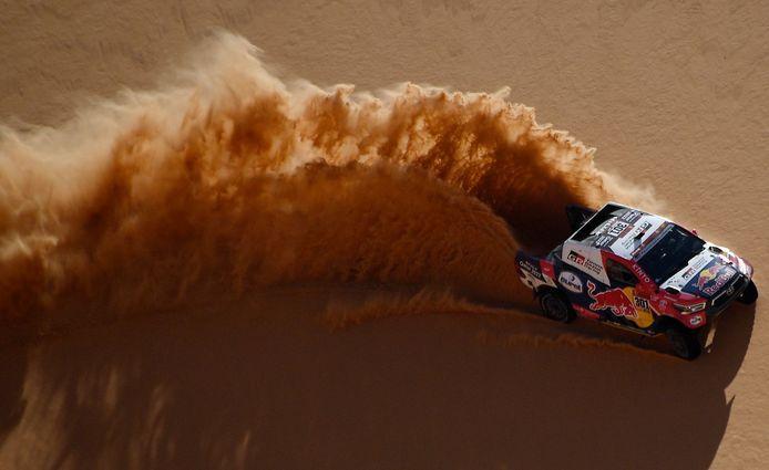 Nasser Al-Attiyah tijdens Dakar-etappe 3.