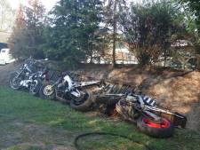 Motoren gered uit brandende schuur in Lutten