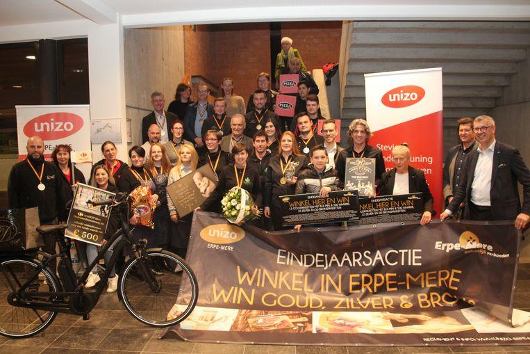 De handelaars van Erpe-Mere zorgen voor een goed gevulde prijzenpot tijdens de eindejaarsactie.
