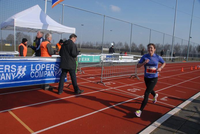Laura Huijbregts uit Eindhoven was veruit de snelste vrouw.