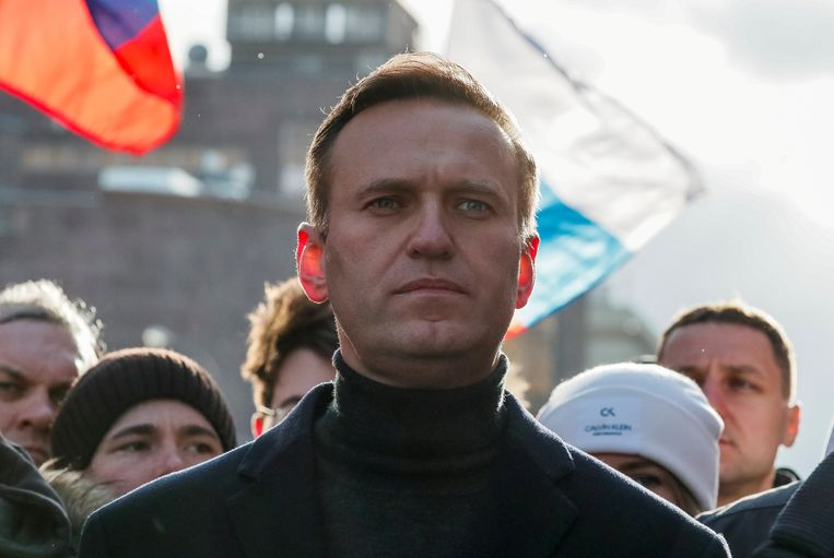 Oppositieleider Aleksej Navalny in Moskou, begin 2020. Beeld REUTERS