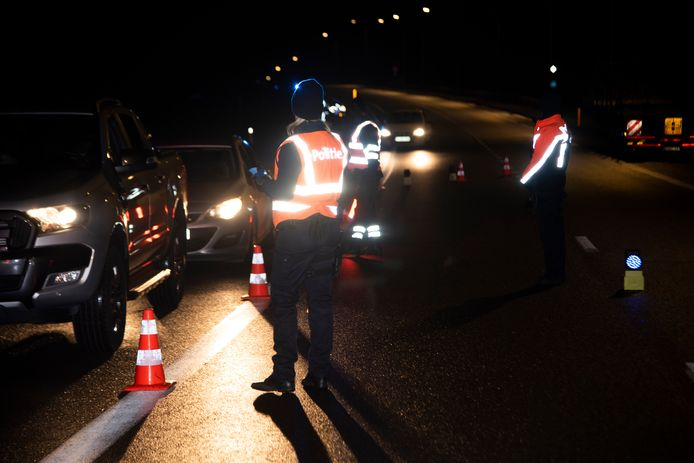 ARCHIEFBEELD: BOB-controle in de politiezone Wetteren, Laarne en Wichelen.