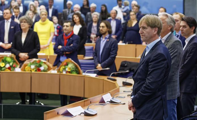 Eric de Bie, lijsttrekker van Forum voor Democratie in Brabant tijdens de installatie van Provinciale Staten.