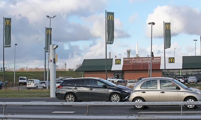 De paal bij de McDonald's flitste het vaakst.