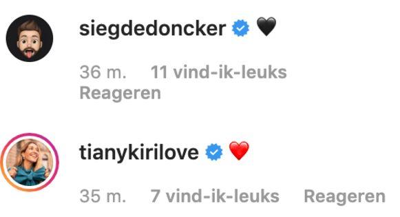 Sieg De Doncker en Tiany Kiriloff.