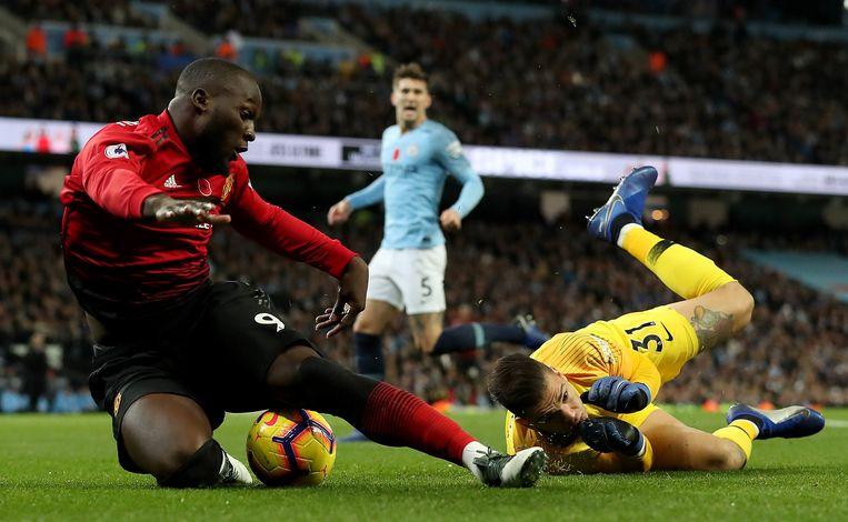 Lukaku versierde zondag nog een penalty in de met 3-1 verloren Manchester derby.