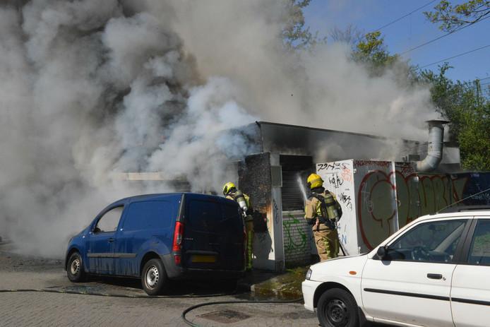 Brand in voormalige patatkraam