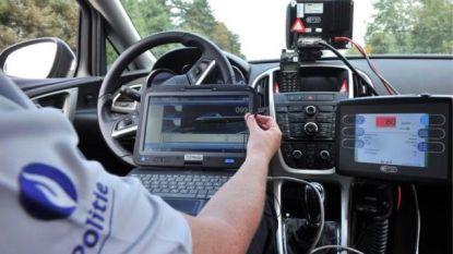 Politie controleert op snelheid in fietsstraat