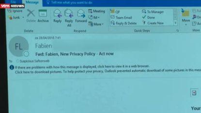 Opgepast voor deze valse GDPR-mails