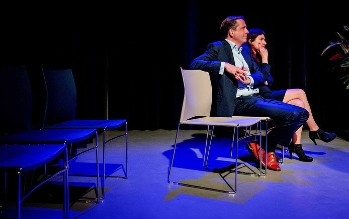 D66-leider Alexander Pechtold, in aanloop naar de gemeenteraadsverkiezingen, te gast bij de politieke talkshow Politiek in de Pol.