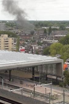 Sein brand meester gegeven bij grote brand woning Baljuwstraat