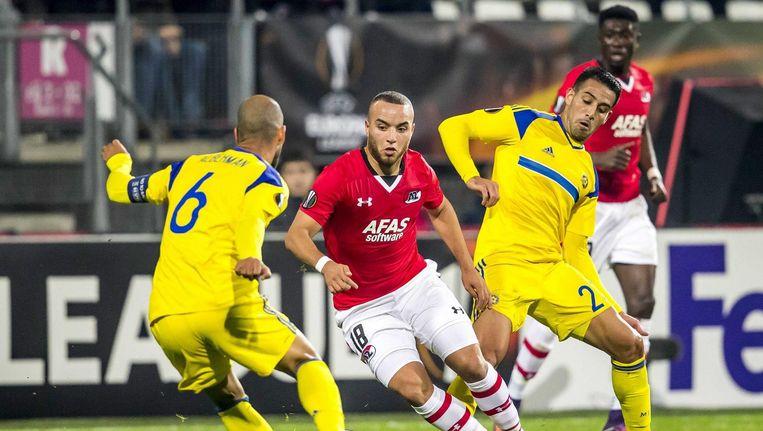 De wedstrijd AZC tegen Maccabi Tel Aviv. Beeld anp