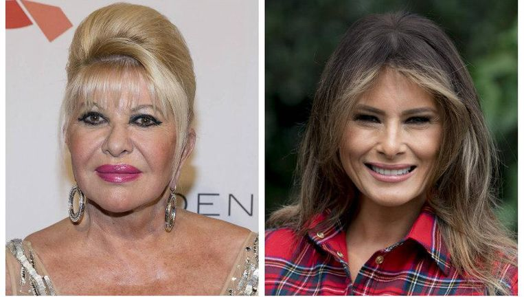 Ivana (links) en Melania Trump.