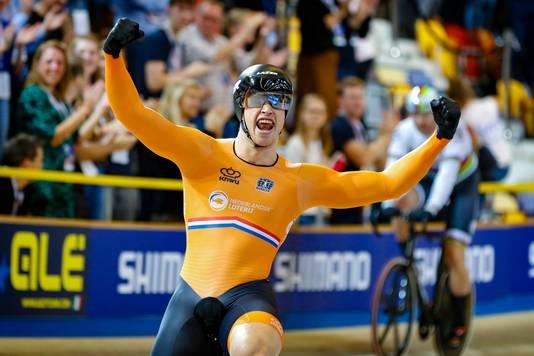 Harrie Lavreysen veroverde vorige week goud in Apeldoorn.