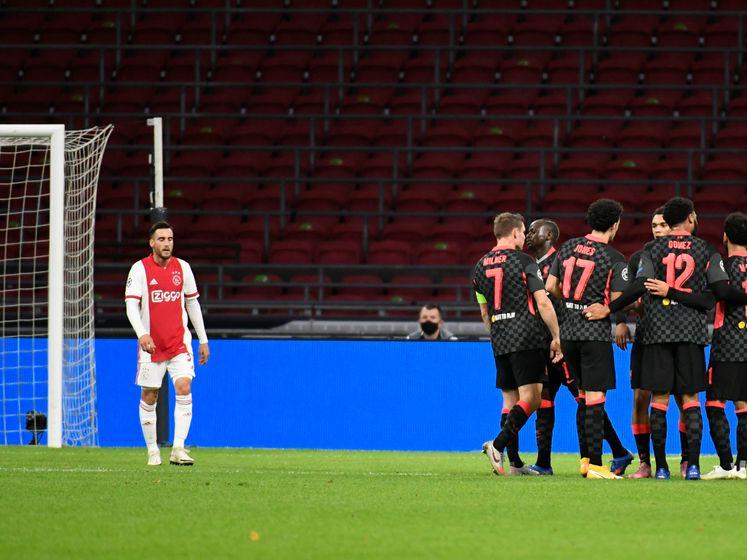 Door deze eigen goal van Tagliafico verliest Ajax van Liverpool