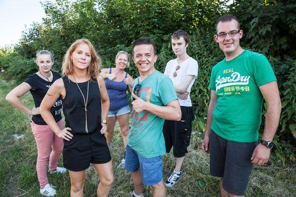 Nico Lenny (midden) met zijn bende van De Seene.