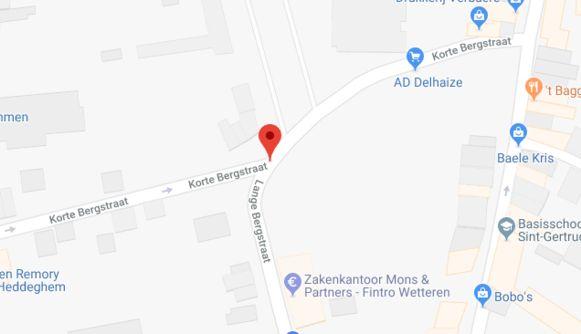 De bromfietser werd onderschept in de Korte Bergstraat.