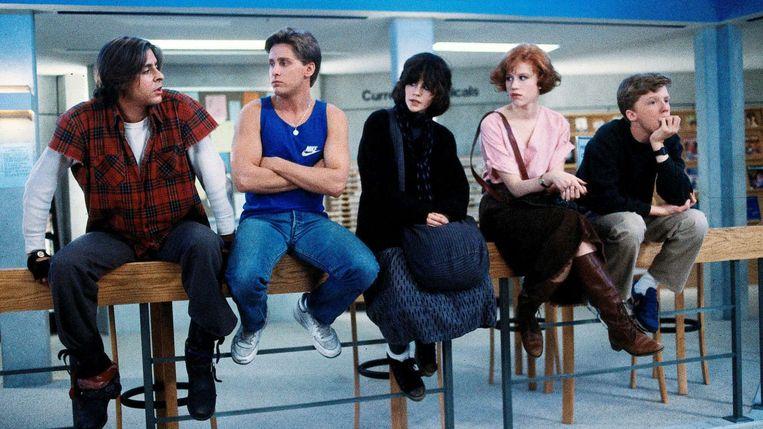The Breakfast Club met Molly Ringwald (tweede van rechts). Beeld