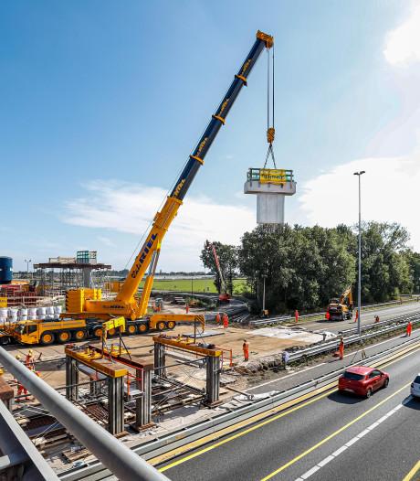 Blok beton legt A27 bij Oosterhout even plat