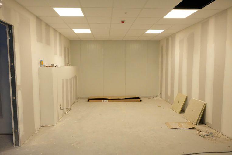 De kleedkamer voor de artiesten.
