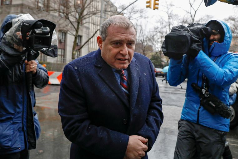 Lev Parnas bij de rechtbank in New York.  Beeld null
