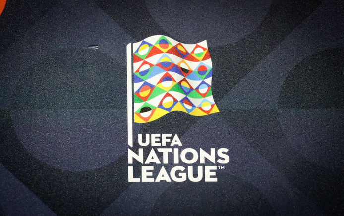 Illustration picture shows the Nation's League logo pictured during a press meeting of Belgian national team the Red Devils in Tubize, Thursday 11 October 2018. Belgium plays their second game in the Nations League against Switzerland on Friday. BELGA PHOTO VIRGINIE LEFOUR