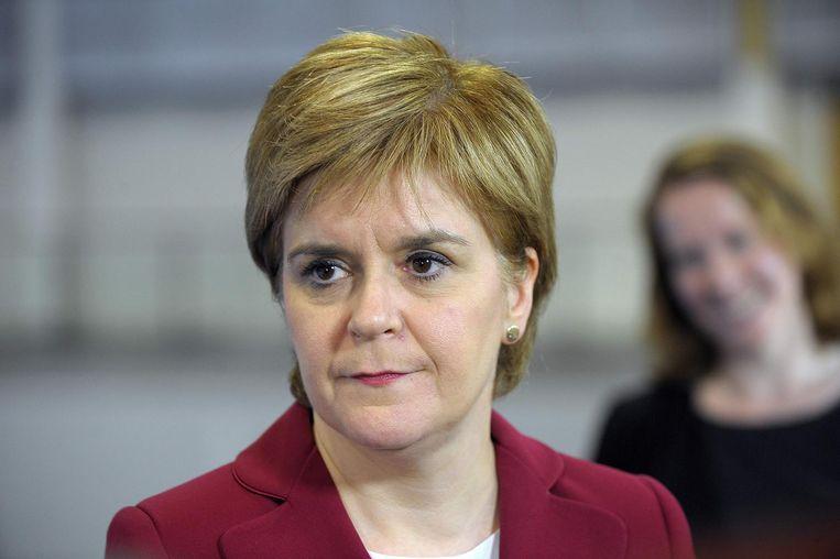 Nicola Sturgeon van de Schotse nationale partij. Beeld afp