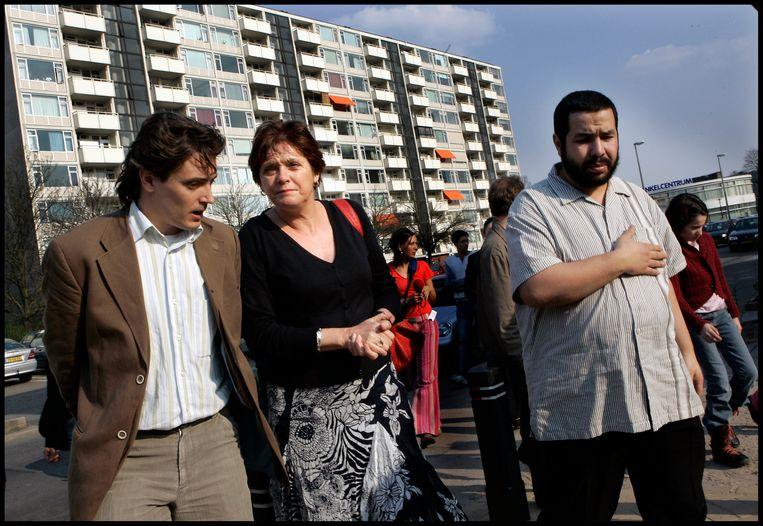 Ella Vogelaar brengt als minister van Wonen, Werken en Integratie een werkbezoek aan de Utrechtse wijk Kanaleneiland.  Beeld Hollandse Hoogte / Evelyne Jacq