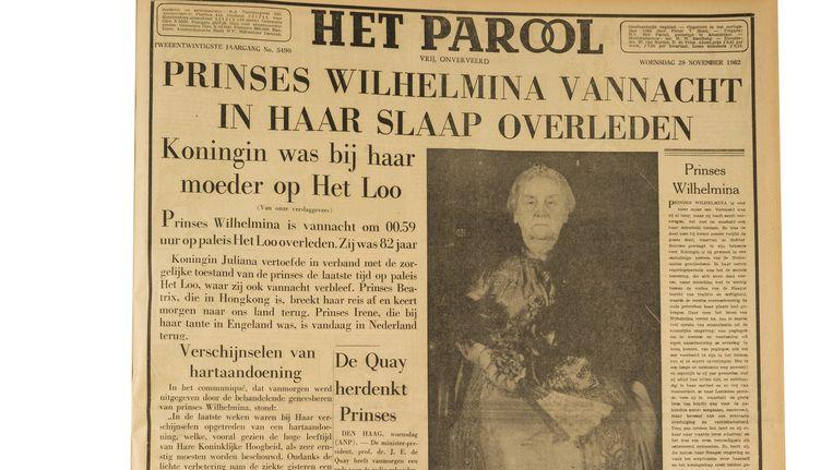 Het Parool groeide in de jaren na de oorlog uit tot een van de grootste en belangrijkste kranten van Nederland. Hier de krant van woensdag 28 november 1962. Beeld Maarten Steenvoort